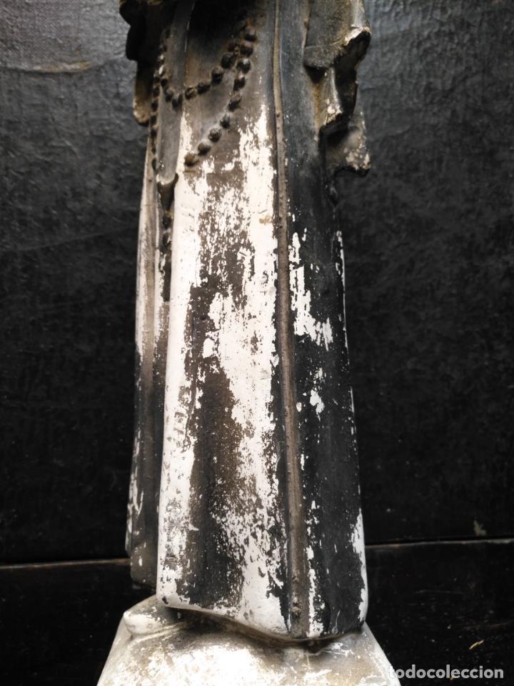 Arte: gran ESCULTURA OLOT O SIMILAR CON SELLO , SANTA RITA DE CASIA - VERTOS 42 CM - Foto 21 - 159849690