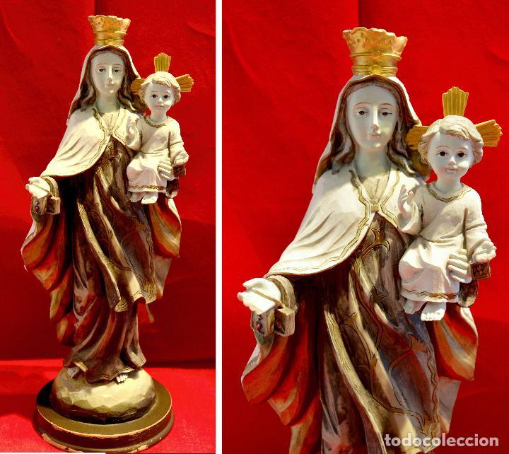FIGURA EN ESTUCO VIRGEN DEL CARMEN (Arte - Arte Religioso - Escultura)