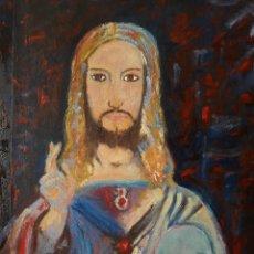 Arte: OLEO CRISTO SALVATOR MUNDI. Lote 159859998