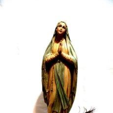 Arte: GRAN VIRGEN DE LOURDES, 54 CM, ANTIGUA VIRGEN MARÍA ESCAYOLA,VIRGEN FRANCESA XIX. Lote 159881702
