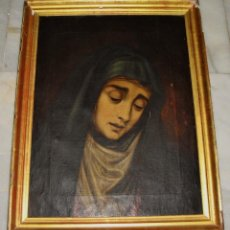 Arte: ÓLEO SOBRE LIENZO. VIRGEN DOLOROSA. MANUEL DE LA PUERTA. 1849. Lote 160010846