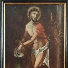 Arte: CRISTO ENCADENADO Y FLAGELADO, SIGLO XVII. Lote 160176226