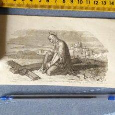 Arte: ANTIGUO GRABADO CIRCA 1850 APROX., VIRGEN CRUZ DE CRISTO CORONA DE ESPINAS CLAVOS . Lote 160231786