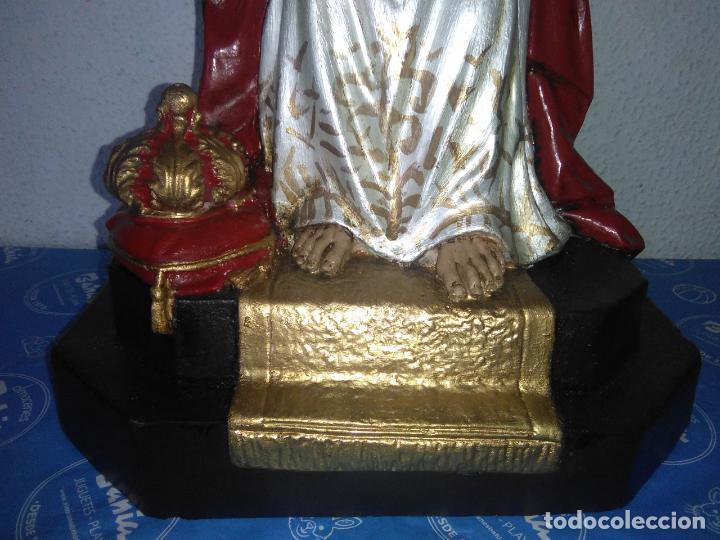 Arte: SAGRADO CORAZÓN DE JESÚS cristo SENTADO SOBRE EL TRONO ojos cristal 40 cms - Foto 8 - 160381610