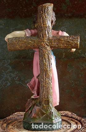 Arte: ARTE RELIGIOSO - PRECIOSO NIÑO EN LA CRUZ - SAN ANTONIO MARÍA CLARET - OJOS DE CRISTAL - OLOT - Foto 6 - 160395582