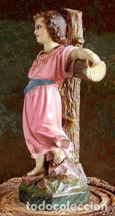 Arte: ARTE RELIGIOSO - PRECIOSO NIÑO EN LA CRUZ - SAN ANTONIO MARÍA CLARET - OJOS DE CRISTAL - OLOT - Foto 9 - 160395582