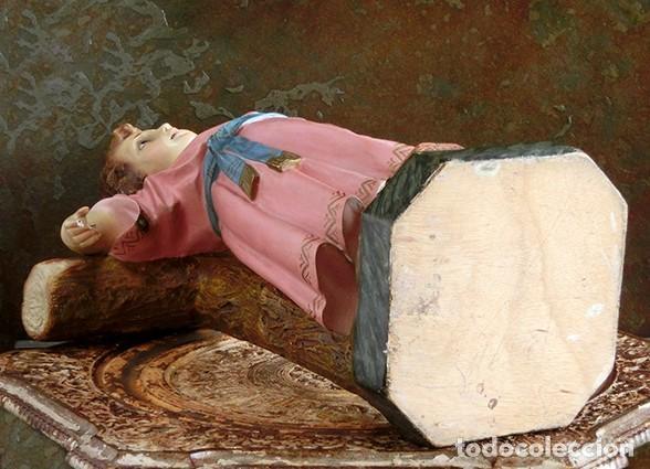 Arte: ARTE RELIGIOSO - PRECIOSO NIÑO EN LA CRUZ - SAN ANTONIO MARÍA CLARET - OJOS DE CRISTAL - OLOT - Foto 14 - 160395582