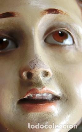Arte: ARTE RELIGIOSO - PRECIOSO NIÑO EN LA CRUZ - SAN ANTONIO MARÍA CLARET - OJOS DE CRISTAL - OLOT - Foto 15 - 160395582