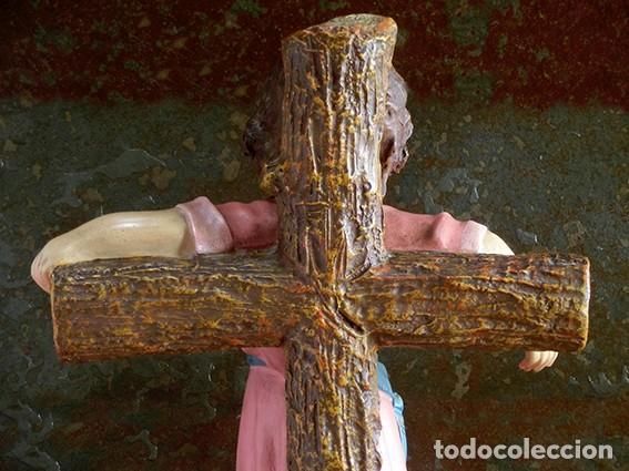 Arte: ARTE RELIGIOSO - PRECIOSO NIÑO EN LA CRUZ - SAN ANTONIO MARÍA CLARET - OJOS DE CRISTAL - OLOT - Foto 18 - 160395582