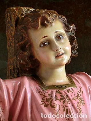Arte: ARTE RELIGIOSO - PRECIOSO NIÑO EN LA CRUZ - SAN ANTONIO MARÍA CLARET - OJOS DE CRISTAL - OLOT - Foto 20 - 160395582