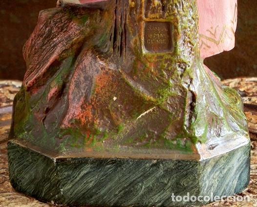 Arte: ARTE RELIGIOSO - PRECIOSO NIÑO EN LA CRUZ - SAN ANTONIO MARÍA CLARET - OJOS DE CRISTAL - OLOT - Foto 21 - 160395582
