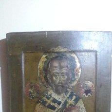 Arte: ICONO RUSO ORIGINAL. SAN NICOLAS. 33X27 CM. SE ADJUNTA CERTIFICADO DE AUTENTICIDAD.. Lote 160543850