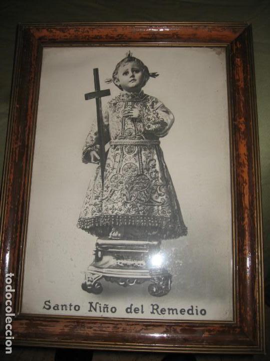 CUADRO ENMARCADO DEL SANTO NIÑO DEL REMEDIO (Arte - Arte Religioso - Pintura Religiosa - Otros)