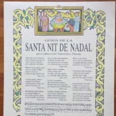 Arte: GOIGS DE LA SANTA NIT DE NADAL 1990 ENCAMP ANDORRA. Lote 160658414