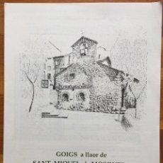 Arte: GOIGS DE SANT MIQUEL DE MOSQUERA - ENCAMP ANDORRA 1989 DÍPTIC. Lote 160658794