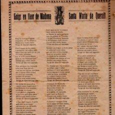 Arte: GOIGS EN LLAOR DE MADONA SANTA MARIA DE QUERALT (IMP. HUCH, BERGA, S.F.). Lote 160666498