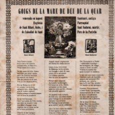 Arte: GOIGS DE LA MARE D DÉU DE LA QUAR- SANT PERE DE LA PORTELLA (S.D). Lote 160666682
