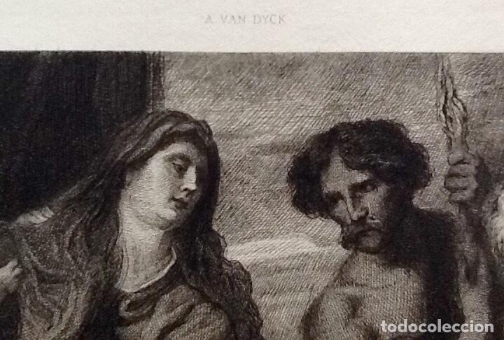 Arte: GRABADO. ADORACION DE LA VIRGEN Y EL NIÑO. VAN DYCK. ENVIO CERTIFICADO INCLUIDO. - Foto 3 - 160668726