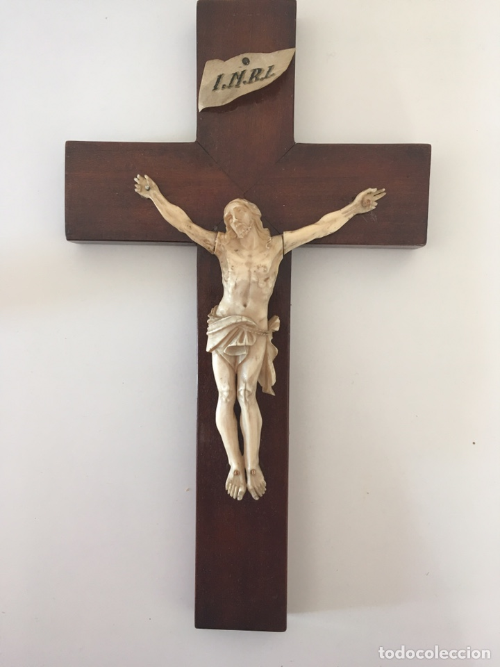CRUCIFIJO EN MARFIL, FINALES S. XIX (Arte - Arte Religioso - Escultura)