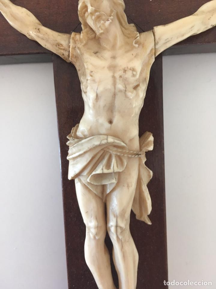 Arte: Crucifijo en marfil, finales S. XIX - Foto 2 - 160680908