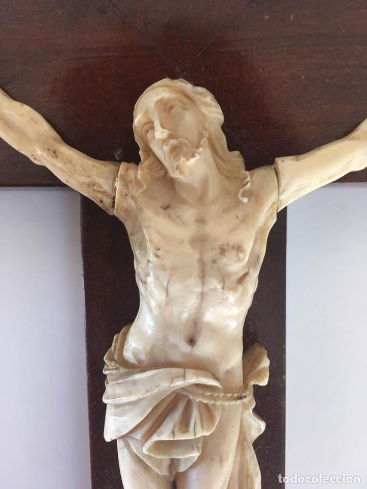 Arte: Crucifijo en marfil, finales S. XIX - Foto 3 - 160680908