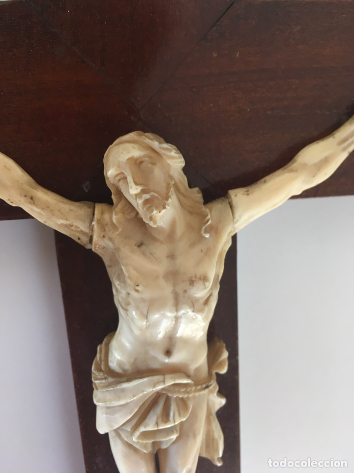 Arte: Crucifijo en marfil, finales S. XIX - Foto 4 - 160680908