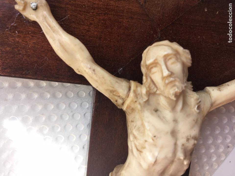 Arte: Crucifijo en marfil, finales S. XIX - Foto 8 - 160680908