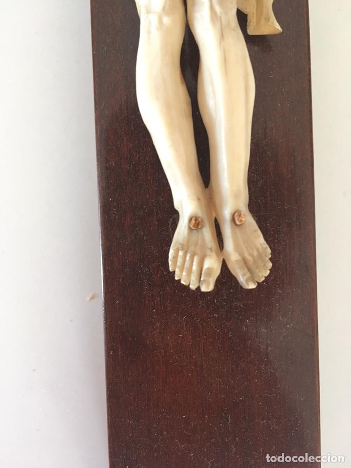 Arte: Crucifijo en marfil, finales S. XIX - Foto 9 - 160680908