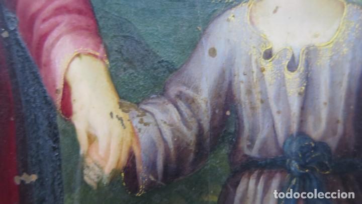 Arte: MAGNIFICA SAGRADA FAMILIA Y SANTISIMA TRINIDAD. OLEO S/ COBRE. SIGLO XVII. ESCUELA FLAMENCA - Foto 5 - 165684729