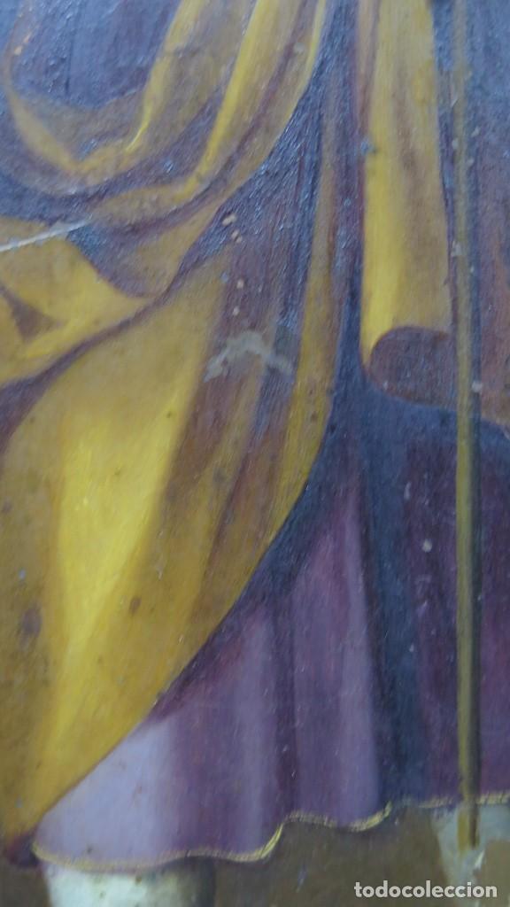 Arte: MAGNIFICA SAGRADA FAMILIA Y SANTISIMA TRINIDAD. OLEO S/ COBRE. SIGLO XVII. ESCUELA FLAMENCA - Foto 16 - 165684729
