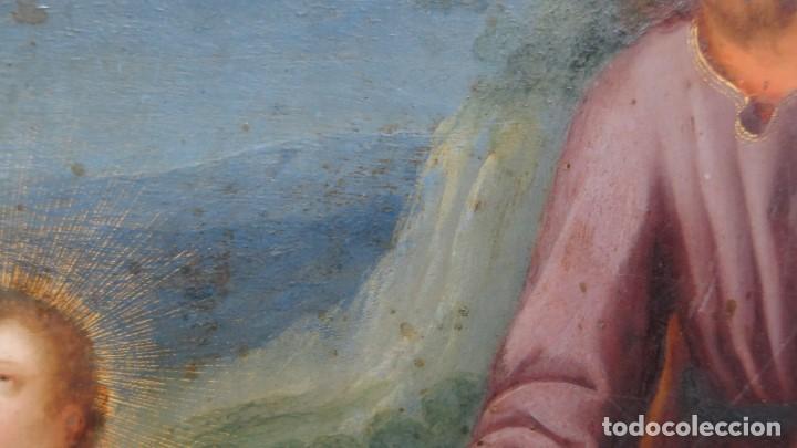 Arte: MAGNIFICA SAGRADA FAMILIA Y SANTISIMA TRINIDAD. OLEO S/ COBRE. SIGLO XVII. ESCUELA FLAMENCA - Foto 30 - 165684729