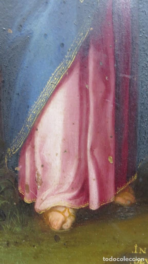 Arte: MAGNIFICA SAGRADA FAMILIA Y SANTISIMA TRINIDAD. OLEO S/ COBRE. SIGLO XVII. ESCUELA FLAMENCA - Foto 39 - 165684729