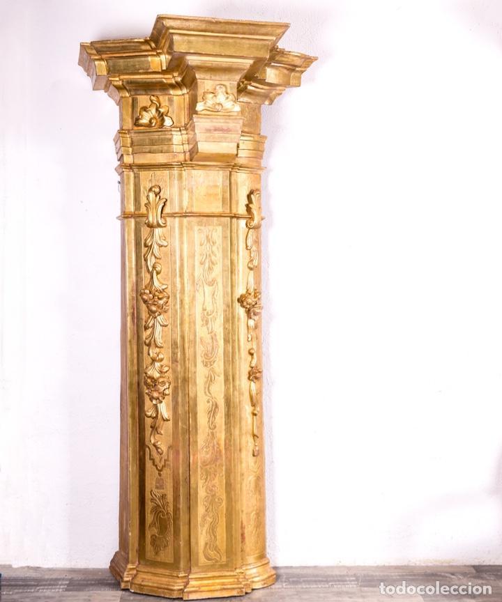 Arte: Columna De Retablo S.XVIII - Foto 2 - 160800206