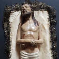 Arte: CRISTO YACENTE (XIX) - TERRACOTA POLICROMADA.27CM. Lote 160961596