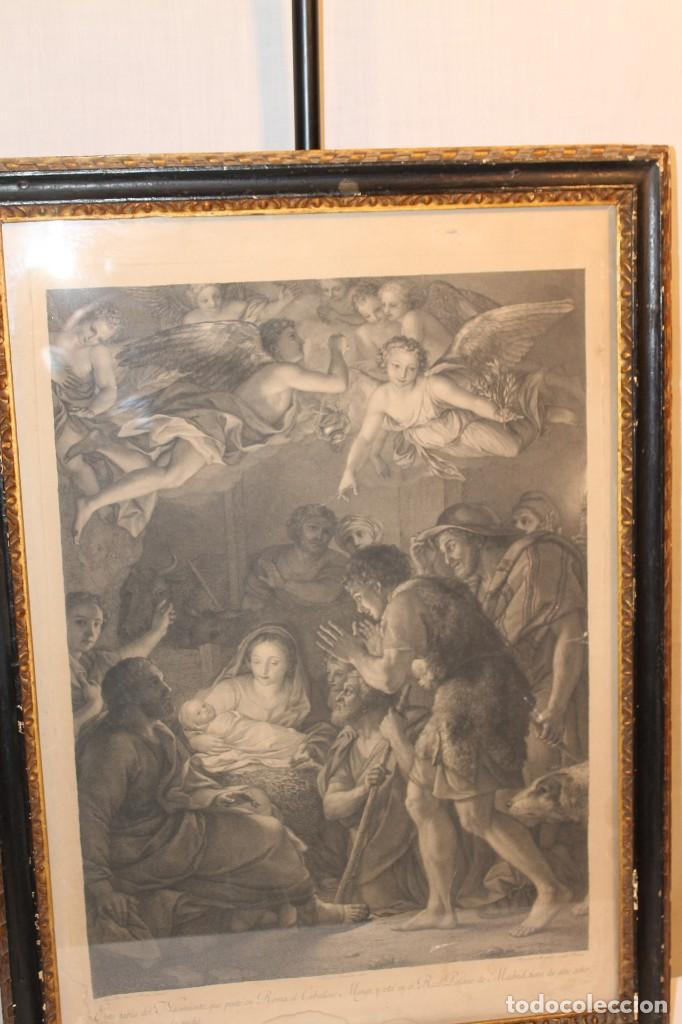RAFAEL MENGS, GRABADO NACIMIENTO S.XVIII (Arte - Arte Religioso - Grabados)