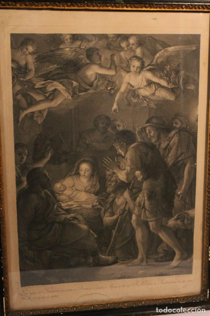 Arte: RAFAEL MENGS, GRABADO NACIMIENTO S.XVIII - Foto 2 - 160963450
