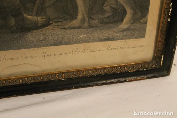 Arte: RAFAEL MENGS, GRABADO NACIMIENTO S.XVIII - Foto 4 - 160963450