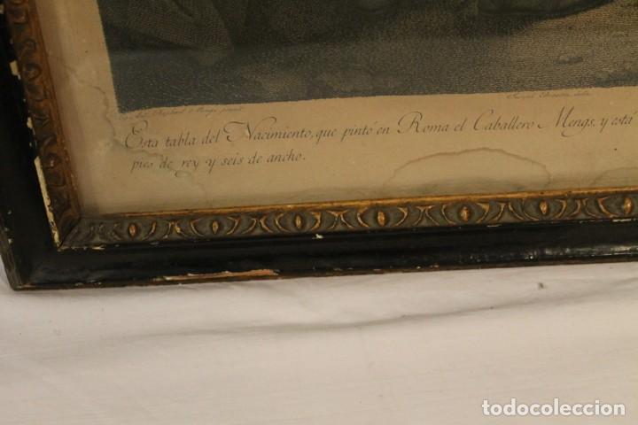 Arte: RAFAEL MENGS, GRABADO NACIMIENTO S.XVIII - Foto 5 - 160963450