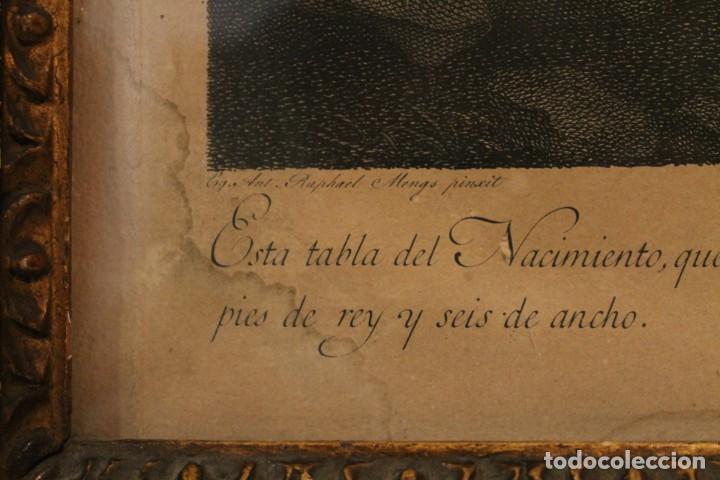Arte: RAFAEL MENGS, GRABADO NACIMIENTO S.XVIII - Foto 9 - 160963450