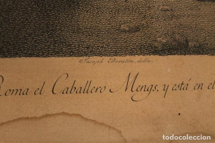 Arte: RAFAEL MENGS, GRABADO NACIMIENTO S.XVIII - Foto 10 - 160963450