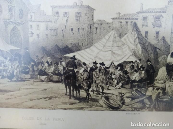 Arte: SEVILLA. GRABADO DE LA IGLESIA DE LA FERIA - Foto 5 - 160978282