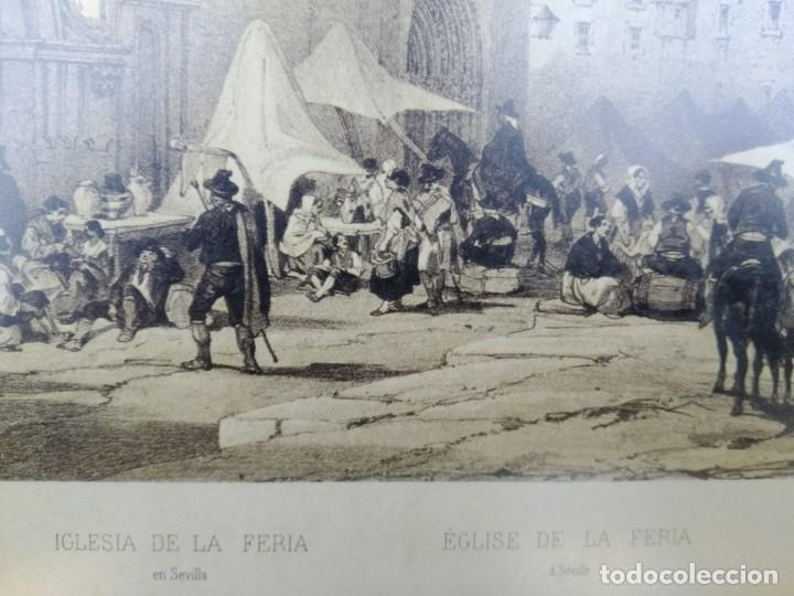 Arte: SEVILLA. GRABADO DE LA IGLESIA DE LA FERIA - Foto 6 - 160978282