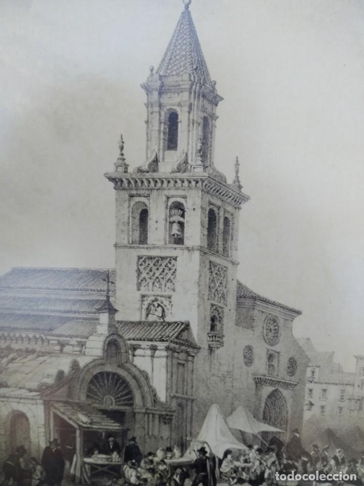 Arte: SEVILLA. GRABADO DE LA IGLESIA DE LA FERIA - Foto 8 - 160978282