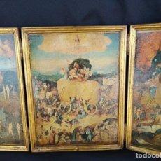 Art: TRIPTICO EL JARDIN DE LAS DELICIAS. EL BOSCO. AÑOS 60.. Lote 160981994