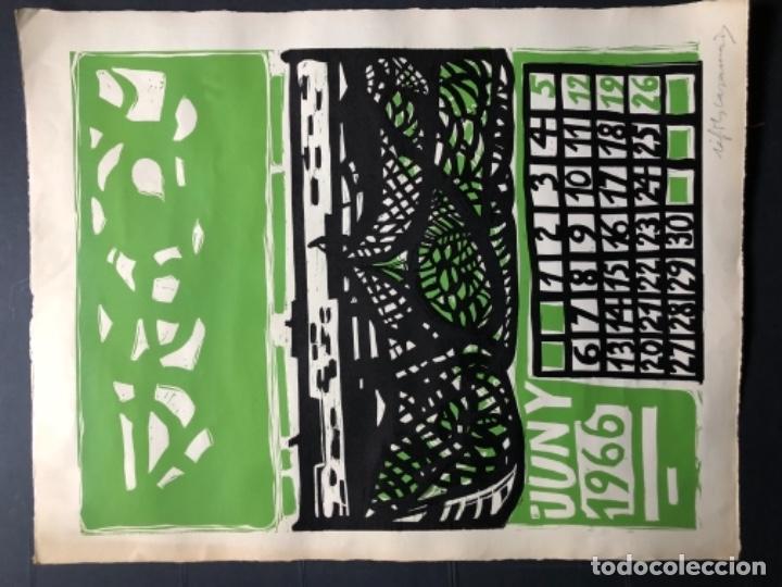 Arte: CALENDARIO 1966 LITOGRAFIAS 12 ARTISTAS CATALANES, SUBIRATS, GUINOVART, RÀFOLS CASAAMADA - Foto 15 - 161198314