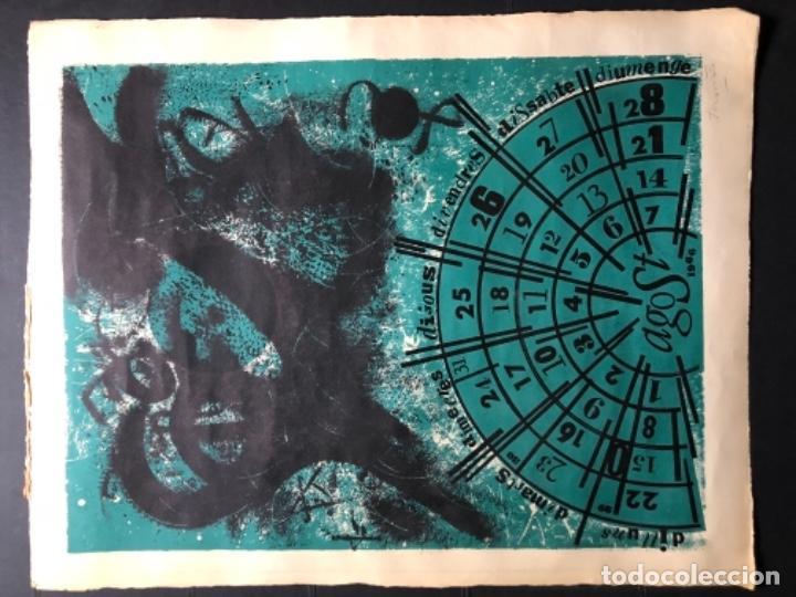 Arte: CALENDARIO 1966 LITOGRAFIAS 12 ARTISTAS CATALANES, SUBIRATS, GUINOVART, RÀFOLS CASAAMADA - Foto 17 - 161198314