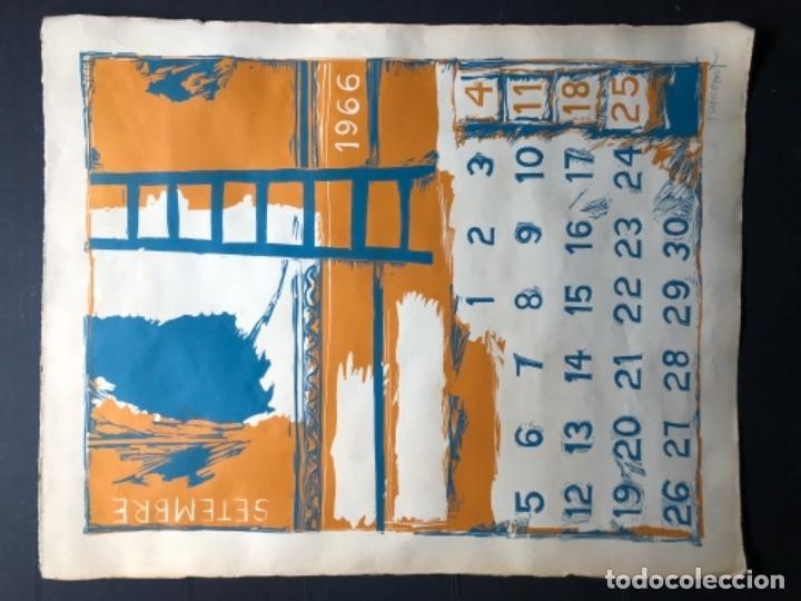 Arte: CALENDARIO 1966 LITOGRAFIAS 12 ARTISTAS CATALANES, SUBIRATS, GUINOVART, RÀFOLS CASAAMADA - Foto 19 - 161198314