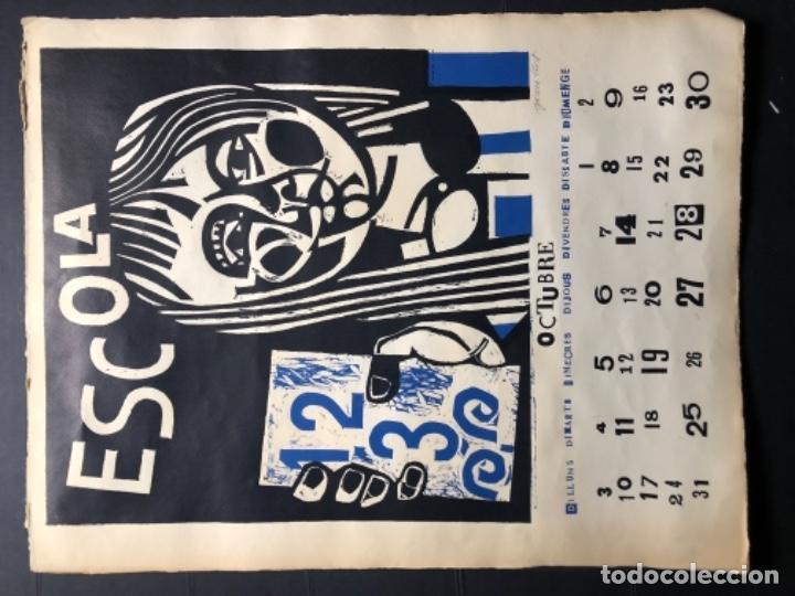 Arte: CALENDARIO 1966 LITOGRAFIAS 12 ARTISTAS CATALANES, SUBIRATS, GUINOVART, RÀFOLS CASAAMADA - Foto 21 - 161198314
