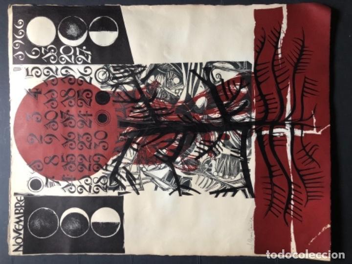 Arte: CALENDARIO 1966 LITOGRAFIAS 12 ARTISTAS CATALANES, SUBIRATS, GUINOVART, RÀFOLS CASAAMADA - Foto 24 - 161198314