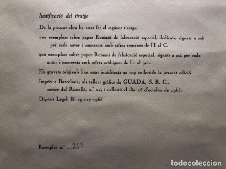 Arte: CALENDARIO 1966 LITOGRAFIAS 12 ARTISTAS CATALANES, SUBIRATS, GUINOVART, RÀFOLS CASAAMADA - Foto 27 - 161198314
